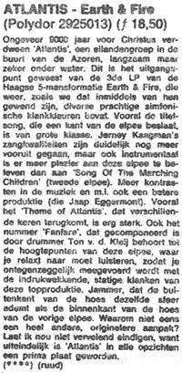 1973, Recensie Atlantis