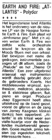 1973, Recensie Atlantis 2