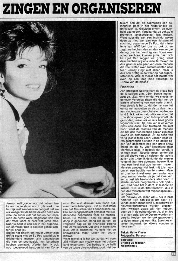 1985, Veronicagids februari 2