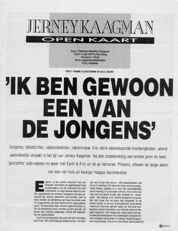 1989, Aktueel 1